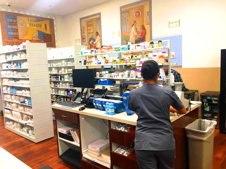 Behind the Counter. Ready to help you out.